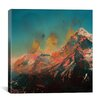 Brayden Studio Mountain Splash by Andreas Lie Painting Print on Wrapped Canvas