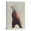 Brayden Studio Roaring Bear by Andreas Lie Graphic Art on Wrapped Canvas
