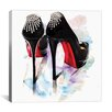 Brayden Studio Christian Louboutin Classic Heels by Rongrong DeVoe Painting Print on Wrapped Canvas