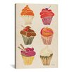 Brayden Studio Cupcakes Artprint by Cat Coquillette Painting Print on Wrapped Canvas