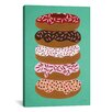 Brayden Studio Donuts Stacked Mint Artprint by Cat Coquillette Graphic Art on Wrapped Canvas