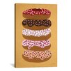 Brayden Studio 'Donuts Stacked' by Cat Coquillette Painting Print on Wrapped Canvas in Yellow