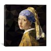 Brayden Studio Girl With Pearl Earring Derezzed by 5by5collective Graphic Art on Wrapped Canvas