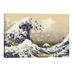 Brayden Studio The Great Wave Derezzed Graphic Art on Wrapped Canvas