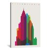 Brayden Studio Philadelphia by Yoni Alter Graphic Art on Wrapped Canvas