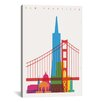 Brayden Studio San Francisco by Yoni Alter Graphic Art on Wrapped Canvas