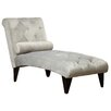Brayden Studio Velour Chaise Lounge
