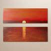 Brayden Studio Sanibel Sunset 2 Piece Painting Print on Canvas Set