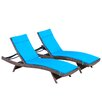 Brayden Studio Larry Chaise Lounge with Cushion (Set of 2)