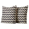 Brayden Studio Jeramiah Striped Decorative Cotton Throw Pillow (Set of 2)