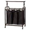 Brayden Studio 3 Bag Rolling Laundry Sorter with Adjustable Hanging Bar