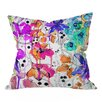 Brayden Studio Nolting Lost In Botanica Indoor/Outdoor Throw Pillow