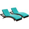 Brayden Studio Ludwick Chaise Lounge with Cushion (Set of 2)
