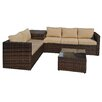 Brayden Studio Armbruster 4 Piece Sectional Seating Group with Cushions