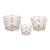 Brayden Studio Nested Geometric 3 Piece Basket Set