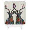 Brayden Studio Couto Poinsettia Deer Shower Curtain