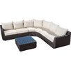 Brayden Studio Liverman 7 Piece Outdoor Wicker Sectional Seating Group with Cushions