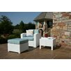 Brayden Studio Loggins Lounge Patio Chair and Ottoman with Side Table