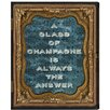 Brayden Studio Glass of Champagne Textual Art on Wrapped Canvas