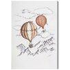 Brayden Studio Balloon Journey Painting Print on Wrapped Canvas