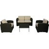 Brayden Studio Loggins 4 Piece Sofa Seating Group with Cushion