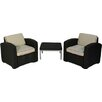 Brayden Studio Loggins 3 Piece 2 Person Seating Group