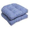 Brayden Studio Eris Wicker Outdoor Seat Cushion (Set of 2)