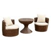 Brayden Studio Battista 3 Piece Seating Group with Cushions