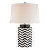 "Wade Logan Chevron LED 26"" H Table Lamp with Drum Shade"
