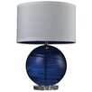 """Wade Logan Alan Blown Glass 25"""" H Table Lamp with Drum Shade"""