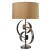 """Wade Logan Volterra Abstract Curve 30"""" H Table Lamp with Drum Shade"""