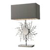 """Wade Logan Ned Abstract Formed Metalwork LED 31"""" H Table Lamp with Rectangular Shade"""