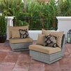Wade Logan Cannes Modular Armless Chair with Cushion (Set of 2)