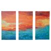 Wade Logan 'Lake Reflections II' by Herb Dickinson 3 Piece Framed Painting Print on Wrapped Canvas Set