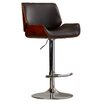 Wade Logan Connor Adjustable Height Swivel Bar Stool