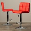 Wade Logan Taylor Adjustable Height Swivel Bar Stool with Cushion (Set of 2)