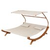 Wade Logan Friendship Harbor Double Chaise Lounge with Cushion