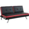 Wade Logan Wayne Split-Back Futon Convertible Sofa