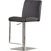 Wade Logan Wesley Adjustable Height Swivel Bar Stool wit h Cushion