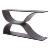 Wade Logan Gideon Hollow Wave Design Console Table
