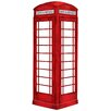 Langley Street Dry Erase London Phone Booth Giant Wall Decal