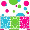 Create-A-Mural Tropical Colored Polka Dot Walls Decal