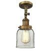 Innovations Lighting Bell Glass 1 Light Semi Flush Mount