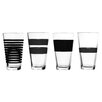 Salt & Pepper 4 Piece Longdrink Glass Set