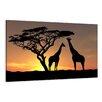Visario Leinwandbild African Giraffes, Fotodruck
