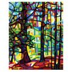 My Wonderful Walls Abstract Forest After the Rain Wall Decal