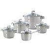 BK Cookware Conical Glas 5-Piece Stainless Steel Cookware Set (Set of 5)