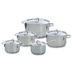 BK Cookware Profiline 5 Piece Stainless Steel Cookware Set