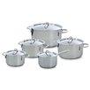 BK Cookware BV 5-tlg. Kasserollen-Set Profiline mit Deckel