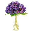 LCG Florals Hydrangea in a Jar with Faux Water